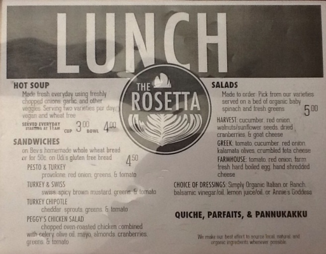 Lunch Menu!