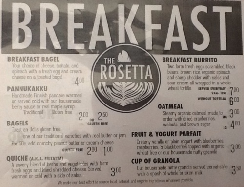 Breakfast and Lunch Menus!