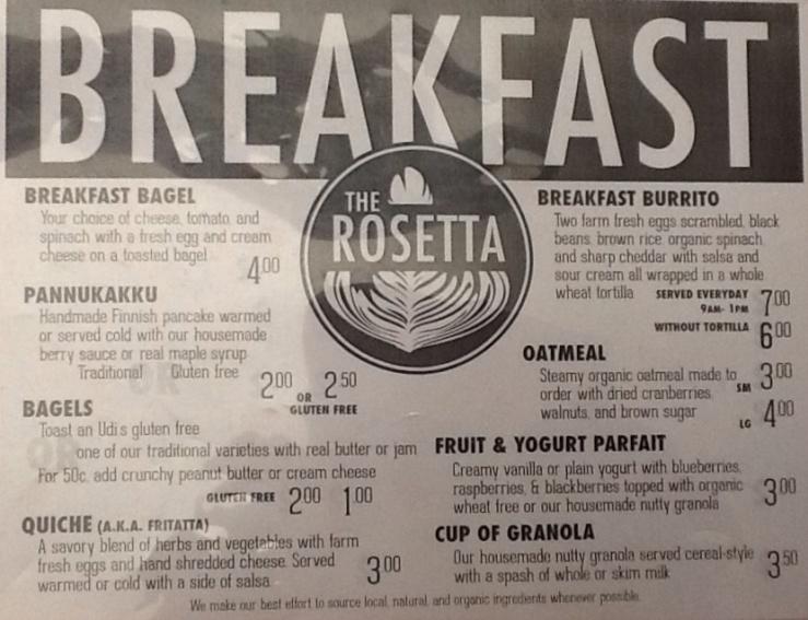 Breakfast and Lunch Menus!